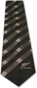 All Blacks Checkered Tie