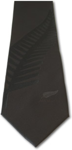 All Blacks Embossed Fern Tie