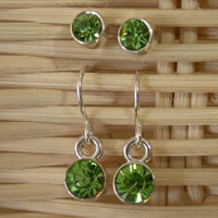 Green Twin Set Earrings