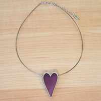 Modern Purple Heart Necklace