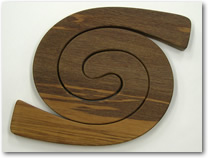 Wooden Rimu Double Placemat Plain