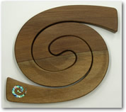 Wooden Rimu Double Placemat Spiral