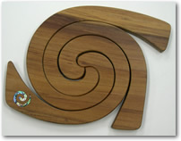 Wooden Rimu Triple Placemat Spiral